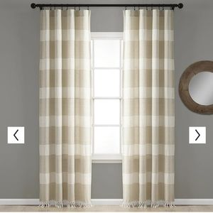 Lush decor Taupe Nantucket set/2 window panels